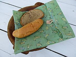 Úžitkový textil - voskované vrecko-vtáky - 10848881_
