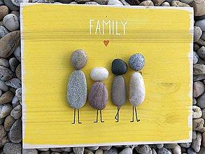 Obrazy - Kamienkáč Family 1 žltý - 10849026_