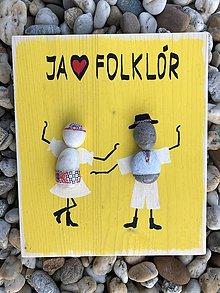 Obrazy - Kamienkáč Folklór - žltý - 10849139_