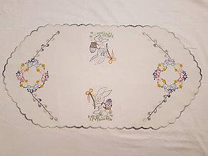 Dekorácie - Ovalna dečka velkonočný motív - 10847238_