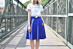 Sukne - Modrá kruhová sukňa - 10847557_