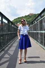 Sukne - Modrá kruhová sukňa - 10847581_