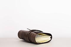 Papiernictvo - Kožený zápisník Hugo - 10849191_