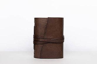 Papiernictvo - Kožený zápisník Hugo - 10849179_