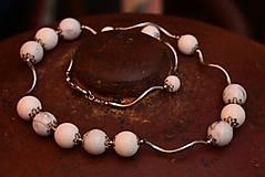 Náramky - Letní bílý korál s magnezitem - 10849158_