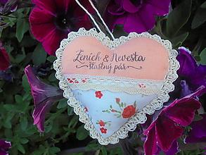 Darčeky pre svadobčanov - Svadobné srdiečko - 10848417_