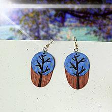 Náušnice - Farebné stromy - náušnice (okrúhle) - 10848345_