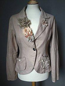 Kabáty - sako prírodné - recyklácia - 10850266_