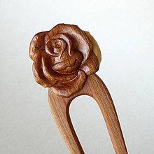 Ozdoby do vlasov - S ružou vo vlasoch - 10851240_