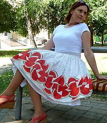 Sukne - Melónová sukňa - 10850907_