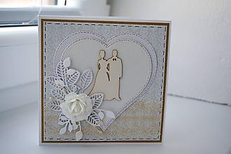 Papiernictvo - Svadobný pozdrav v krabičke 2 - 10850846_