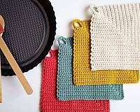 Úžitkový textil - Háčkované chňapky - 10850685_