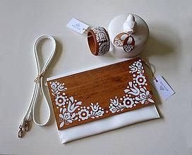 Kabelky - DREVENÁ MAĽOVANÁ SADA kabelka&motýlik&náušnice - 10849802_