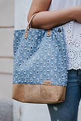 Veľké tašky - Veľká taška korok a roztrhaná riflovina - 10850943_