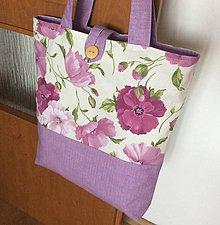 Nákupné tašky - taška fialová - 10850828_
