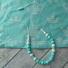 """Náhrdelníky - Silikónový dojčiaci náhrdelník """"Pre princa"""" - 10850895_"""