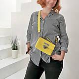 Kabelky - Kožená kabelka MiniMe (žltá) - 10849597_
