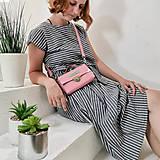 Kabelky - Kožená kabelka MiniMe (pink) - 10849604_