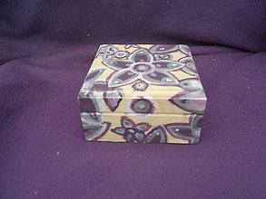 Krabičky - Drevená šperkovnička - fialová - 10850554_