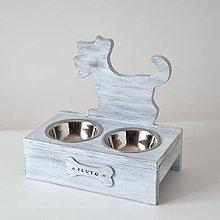 Pre zvieratká - Stolík na misky pre psíkov (Hnedá) - 10849543_