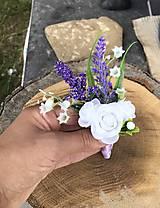Pierka - Pierko pre ženícha Levanduľa - 10849977_