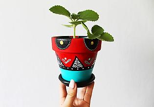Nádoby - Terakotový kvetináč - Orient - 10850450_
