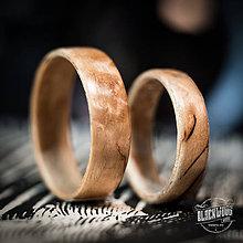 Prstene - Drevená obrúčka - kučeravá breza - 10850364_