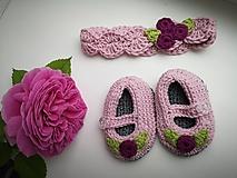 Detské doplnky - Háčkovaná čelenka SHELLY pre bábätko (50% merino & 50% bavlna) - 10849223_