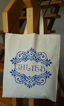 Veľké tašky - Taška na chlebík (modrý ornament) - 10849554_