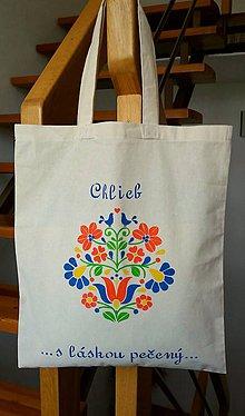 Veľké tašky - Taška na chlebík (folk vtáčiky) - 10849555_