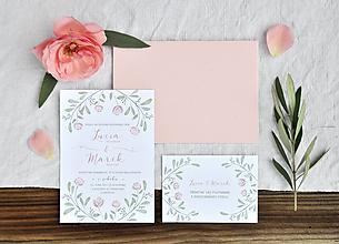 Papiernictvo - Svadobné oznámenie Ružová záhrada - 10849920_