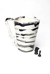 Nádoby - šálka XXL čierno biela - 10850464_