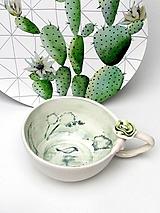 Nádoby - šálka zelená prírodná - 10850573_