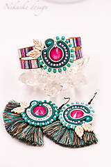 Sady šperkov - Farebný soutache set - 10849639_