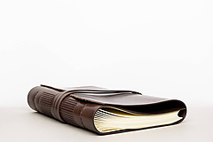 Papiernictvo - Kožený zápisník Zigmund - 10849214_