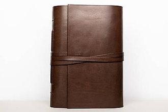 Papiernictvo - Kožený zápisník Zigmund - 10849205_