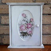 Krabičky - Skrinka na kľúče - Vintage ruže - 10850267_