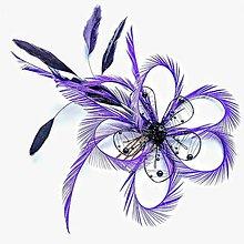 Ozdoby do vlasov - Fascinátor z peria - 10850982_