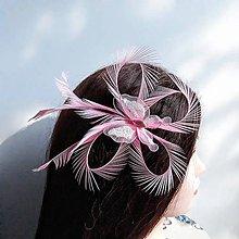 Ozdoby do vlasov - Fascinátor z peria - 10851059_