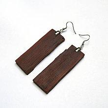 Náušnice - Drevené náušnice visiace - borovicová kôra - 10849631_