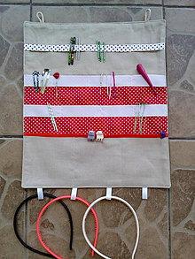 Textil - Organizér 2 pre malé slečny - 10851946_