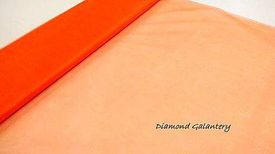Textil - Tyl s leskom - šedý (Oranžová) - 10852638_