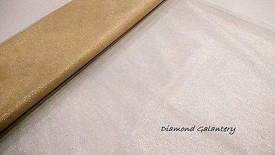 Textil - Tyl s leskom - šedý (Zlatá) - 10852639_