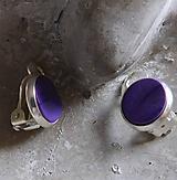 Náušnice - klipsy vlnky tmavé fialové - 10851786_
