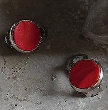 Náušnice - klipsy v červenej - 10851706_