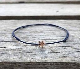 Náramky - Náramok s hviezdičkou  (Modrá) - 10851501_