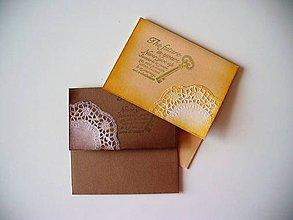 """Papiernictvo - vintage CD obal s """"krajkou"""" - 10852049_"""