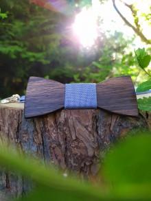 Doplnky - Pánsky drevený motýlik a traky - 10852268_