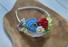 Folklórna kvetinová čelenka - ľudová