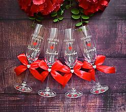 Nádoby - Svadobný pohár pre rodiča- červeno krémová - 10852877_